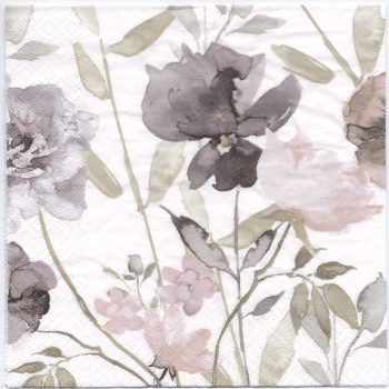 Decoupage Paper Napkins | Violets in Watercolor  | Paper Napkins for Decoupage