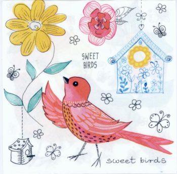 Event Paper Napkins Bird Birdhouse Flowers