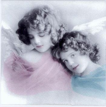 Paper Napkin Little Angels Vintage Photo