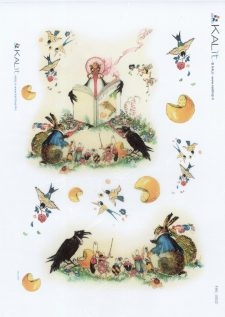 Decoupage Rice Paper Sheet Fontaine Animal Fables
