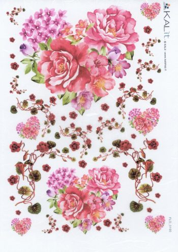 Italian Rice Paper for Decoupage Rose Hearts