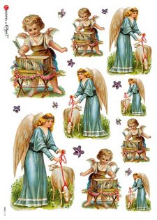 Decoupage Rice Paper from Italy | Angels & Lamb