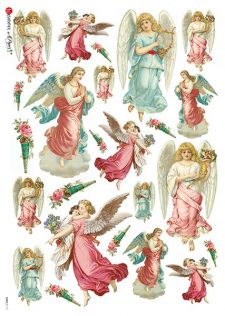 Decoupage Rice Paper Angels Cherubs Seraphs