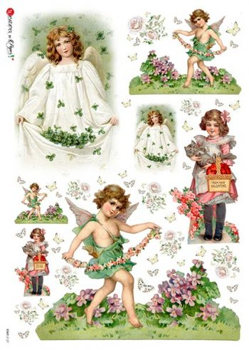 Italian Decoupage Rice Paper | Vintage Saint Patrick