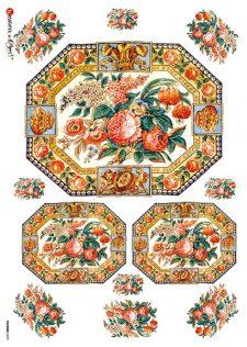 Decoupage Rice Paper Lovely Rose Frames
