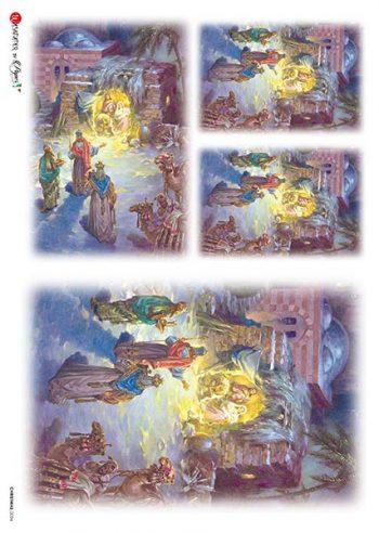 Decoupage Rice Paper Three Wise Men & Jesus