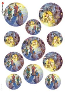 Decoupage Rice Paper Nativity 3 Kings