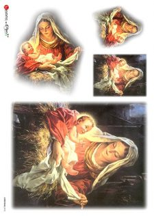 Mary hold baby