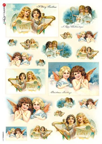 Decoupage Rice Paper from Italy Angels Music