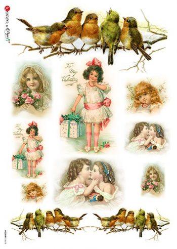 vintage valentine images