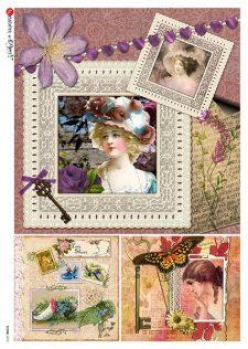 vintage lady frame
