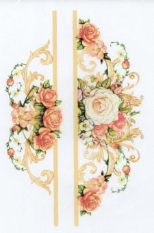 Decoupage Rice Paper Sheet Pink & Yellow Roses