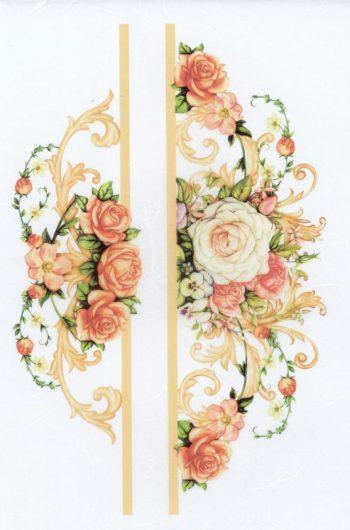 Decoupage Rice Paper Sheet Pink & Yellow Roses