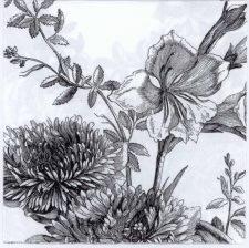Fleur white & black