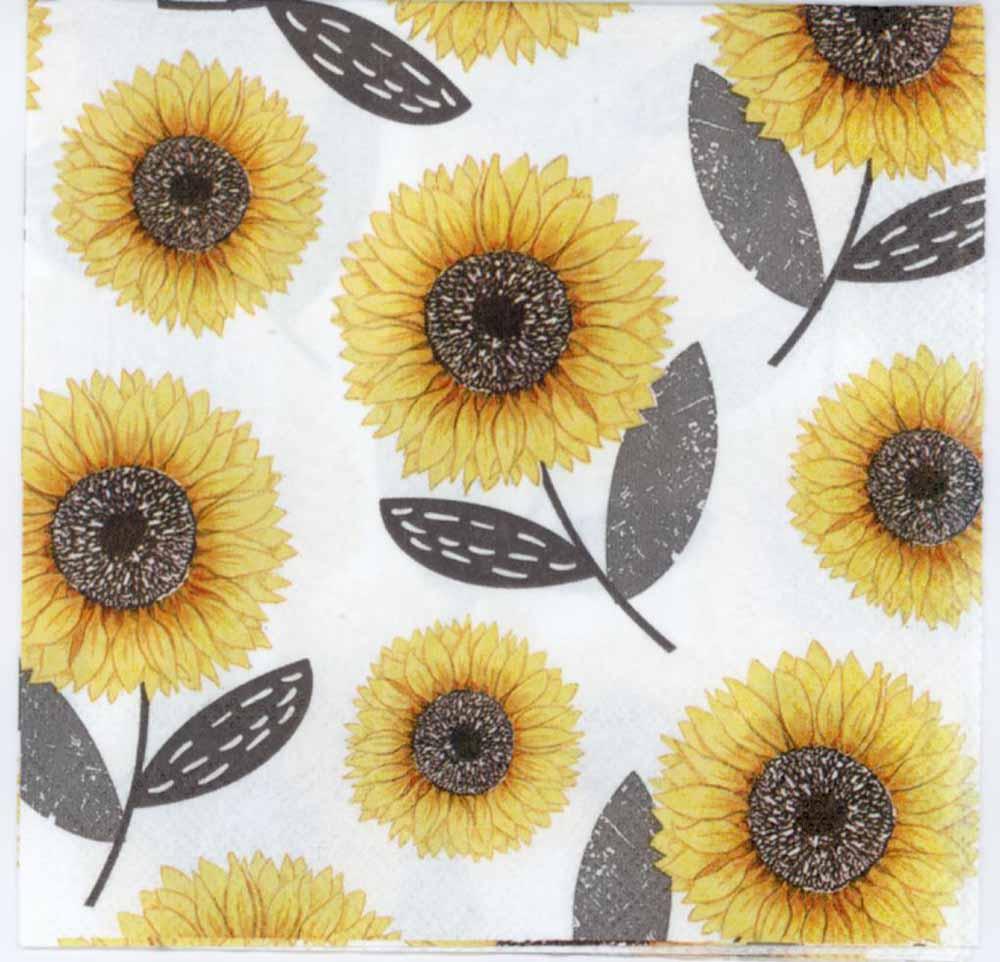 Decoupage Napkins Urban Sunflowers Napkin Yellow