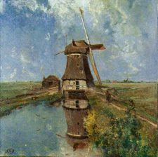 Art Paper Napkin | Dutch Windmill | Gabriels In the Month of July | Paper Napkins for Decoupage 1