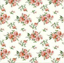 Designer Paper Napkins   Tiny Victorian Roses   Paper Napkins for Decoupage 1