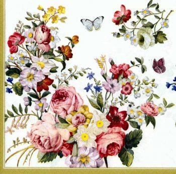 Designer Paper Napkins   Rose Garden Butterflies   Rose Napkins   Paper Napkins for Decoupage 1