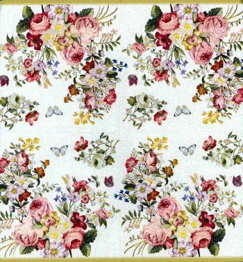 Designer Paper Napkins   Rose Garden Butterflies   Rose Napkins   Paper Napkins for Decoupage 2
