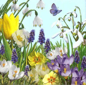 Designer Paper Napkins   Wild Flower Garden   Flower Napkins   Paper Napkins for Decoupage 1