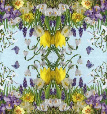 Designer Paper Napkins   Wild Flower Garden   Flower Napkins   Paper Napkins for Decoupage 2