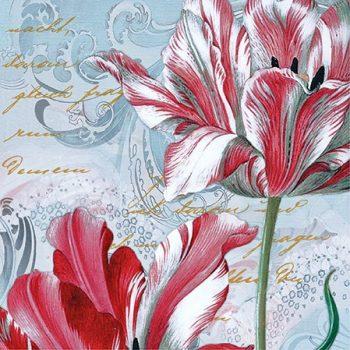 tulip on the pattern