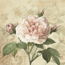 Bible Journaling Paper Napkin Vintage Pink Rose