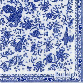 Paper Napkins Blue Regal Peacock Burleigh