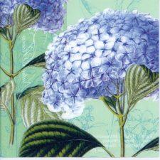 Decoupage Paper Napkins | Blue Hydrangeas | Floral Napkins | Paper Napkins for Decoupage