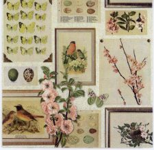 Decoupage Paper of Roses Robins Butterflies | Paper Napkins for Decoupage