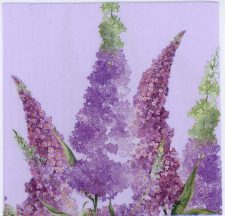 Decoupage Napkins of Purple Butterfly Bush Buddleia Flowers | Paper Napkins for Decoupage