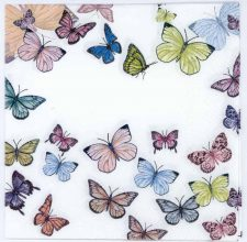 Decoupage Paper Butterflies on White | Paper Napkins for Decoupage