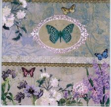 Decoupage Paper Napkins of Romantic Butterflies and Flowers | Paper Napkins for Decoupage