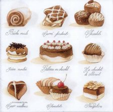 Decoupage Paper of French Chocolates | Paper Napkins for Decoupage