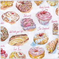 Decoupage Paper of Doughnuts and Pastries | Paper Napkins for Decoupage