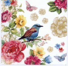 Decoupage Paper Napkins of a Bird of Paradise Flowers Butterflies | Paper Napkins for Decoupage
