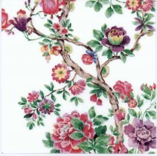 Decoupage Paper Napkins of a Japanese Flower Garden | Paper Napkins for Decoupage