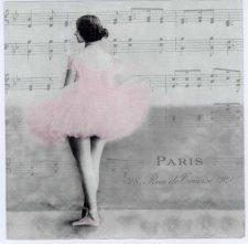 Decoupage Napkins of Paris Ballet Dancer | Paper Napkins for Decoupage
