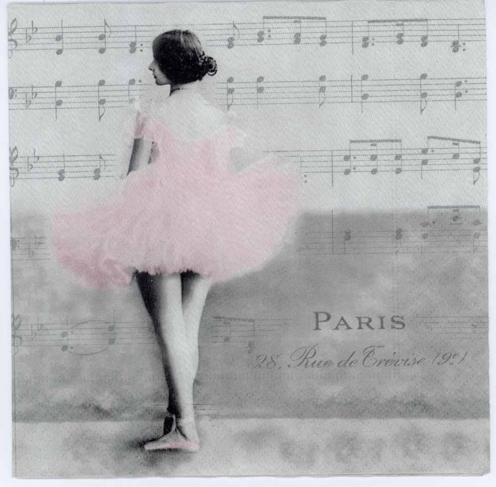 Decoupage Napkins Of Paris Ballet Dancer Chiarotino