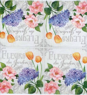 Decoupage Paper of Roses Tulips Hydrangeas | Paper Napkins for Decoupage