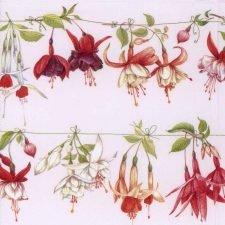 Decoupage Napkins of Fuchsias | Paper Napkins for Decoupage