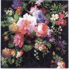 Decoupage Napkins of Roses on Black Velvet | Paper Napkins for Decoupage