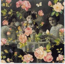 Decoupage Paper Napkins of Victorian Tea Party and Roses   Decoupage Paper Napkins