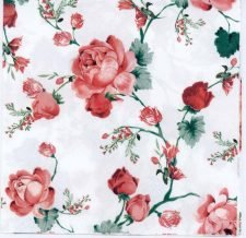 Decoupage Paper of Red Cottage Roses   Paper Napkins for Decoupage