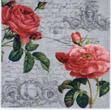 Decoupage Paper Napkins of Two Red Roses   Paper Napkins for Decoupage