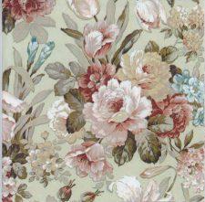 Decoupage Paper of Romantic Rose Garden on Green   Paper Napkins for Decoupage