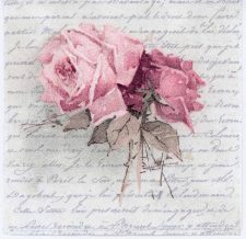 Decoupage Paper of Vintage Roses and a Love Poem | Paper Napkins for Decoupage