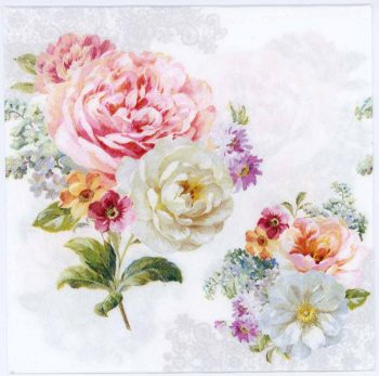 Decoupage Napkin of Roses of Romance | Paper Napkins for Decoupage