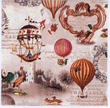 Decoupage Paper of Vintage Americana Balloons Airships | Paper Napkins for Decoupage