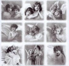 Decoupage Napkins of Victorian Angels and Fairies | Angel Napkins | Fairy Napkins | Paper Napkins for Decoupage